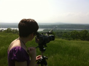 Filming idyllic Hudson River views at Olana
