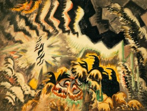 Charles Burchfield, The Moth and the Thunderclap (1961)