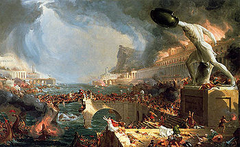Thomas Cole, Destruction (1836) from The Course of Empire