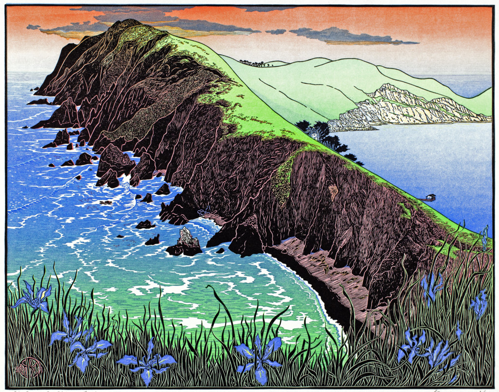 "Tom Killion, ""Point Reyes from Chimney Rock"", 2012. Used with permission of the artist."