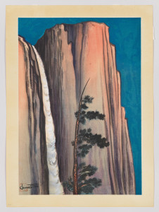 CHIURA OBATA (1885-1975), EVENING GLOW OF YOSEMITE FALL, 1930