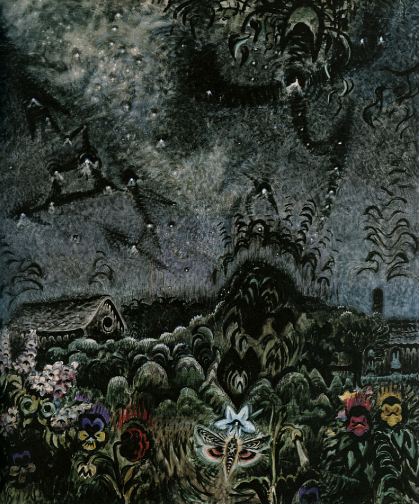 "Painting ""The Sphinx and the Milky Way"" by Charles E. Burchfield"