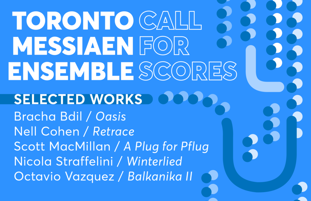 Toronto Messiaen Ensemble announcement placard