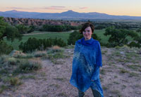 Nell Shaw Cohen at Ghost Ranch in Abiquiu, New Mexico